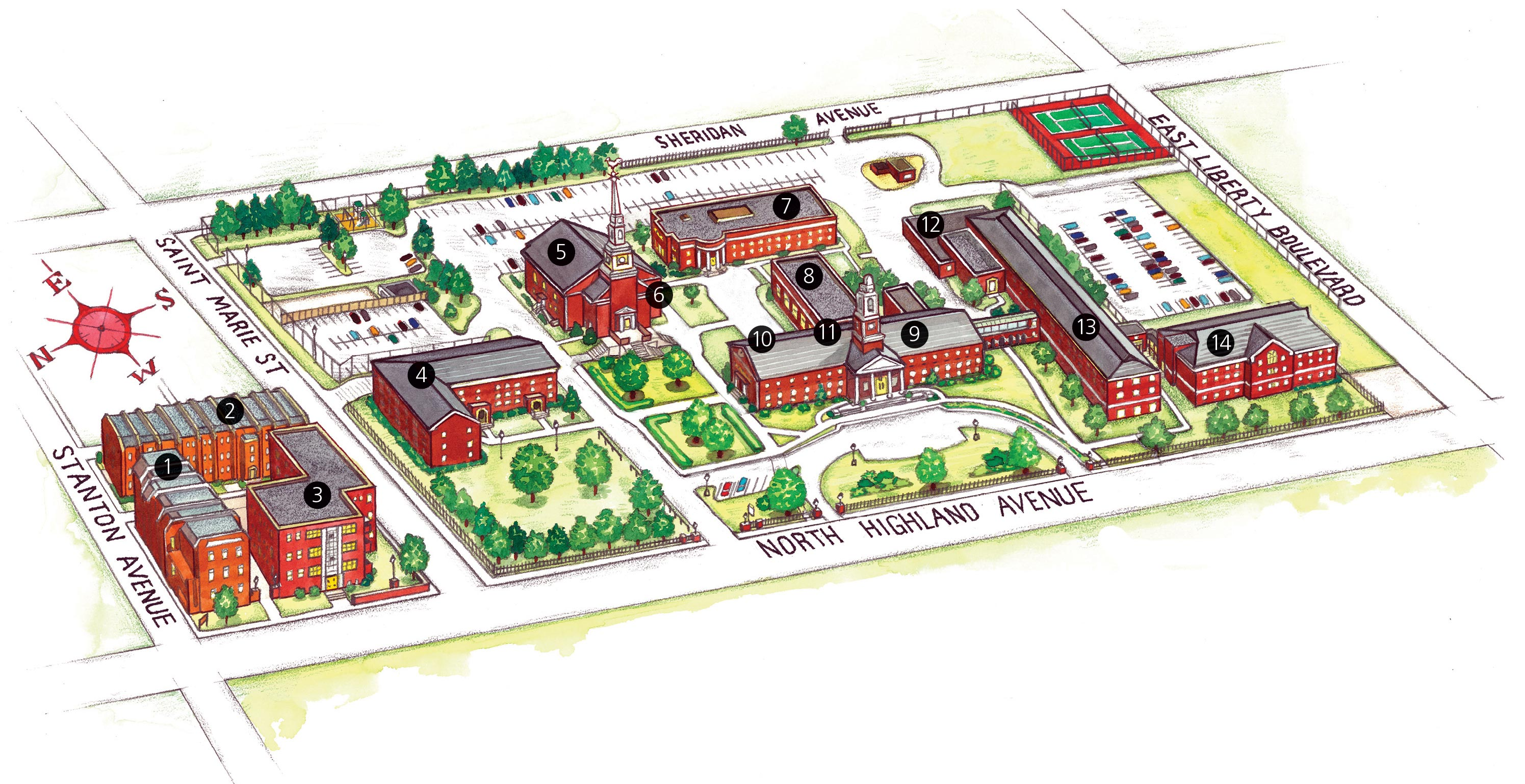 PTS Campus Map Pennsylvania