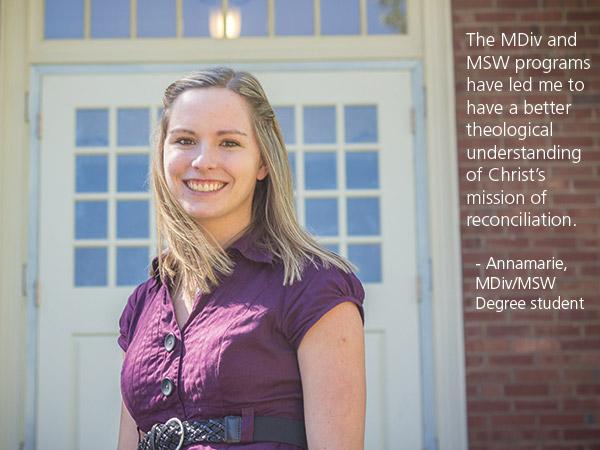 MDiv-MSW Program Student